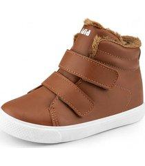 botas agility mini piel de peluche marrón bibi