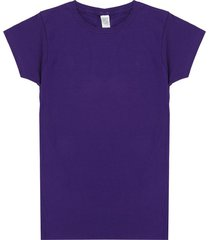 camiseta morado preppy mc c/r unicolor