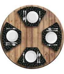 jogo americano   para mesa redonda wevans presentes  love decor