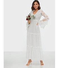 u collection long sleeve lace dress maxiklänningar