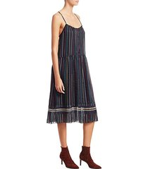 austin stripe silk dress