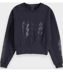 scotch & soda sweater met tailledetail