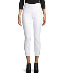 high-rise stretch-cotton cropped pants