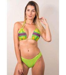 biquãni feminino serra e mar modas calcinha lisa brenda verde - verde - feminino - poliamida - dafiti