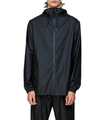 rains storm breaker waterproof hooded rain jacket, size x-small in black at nordstrom