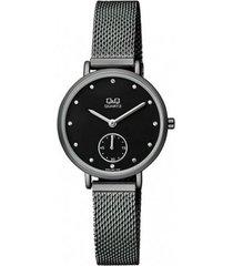 reloj para dama elegante q&q qa97j402y negro