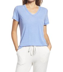 women's gibson x the motherchic beach burnout boyfriend t-shirt, size small - blue