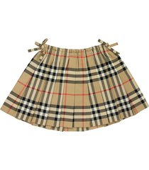 burberry vintage check pleated skirt mini pearly beige