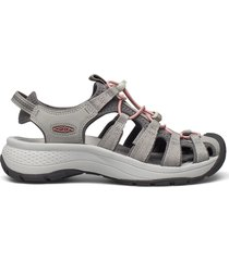 ke astoria west sandal w grey-coral shoes summer shoes flat sandals grå keen