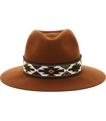 maison michel fedora rico indian ribbon felt hat