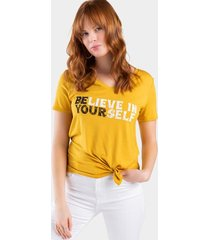 believe in yourself tee - mustard