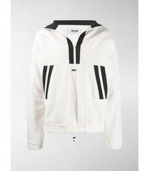 msgm contrast stripe sweatshirt