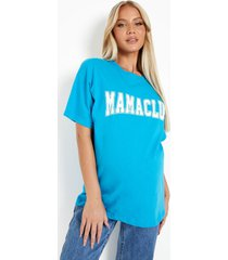 zwangerschap 'mama club' t-shirt, turquoise