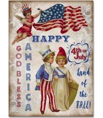 "jean plout 'retro patriotic 3' canvas art - 32"" x 24"" x 2"""
