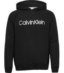 l/s hoodie hoodie trui zwart calvin klein