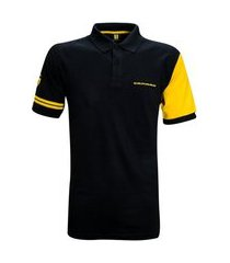 camisa liga retrô premium camaro polo patch
