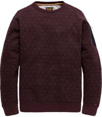 r-neck brushed sweater winetasting