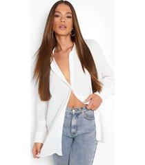 gekreukelde oversized blouse, white