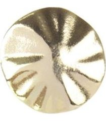 anel armazem rr bijoux redondo regulável dourado - feminino