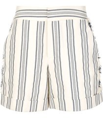 fringe striped shorts