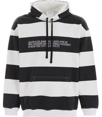 calvin klein striped hoodie