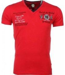 t-shirt korte mouw david copper italiaanse t-shirt - korte mouwen - borduur polo players -