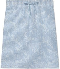 tommy hilfiger adaptive women's macadamia printed pull-on skirt