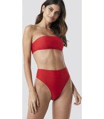 na-kd swimwear maxi high waist bikini panty - red