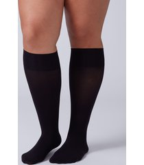 lane bryant women's solid trouser socks 2-pack onesz black