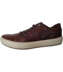 tênis de couro estiloso confortável sapatênis calprado - masculino