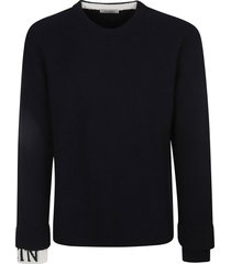 valentino vltn cuffs knit sweater