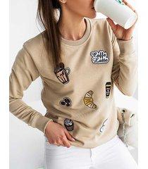 beżowa bluza damska caffe latte