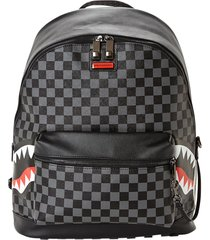 sprayground grey side sharks in paris backpack |grey| 2804-gry