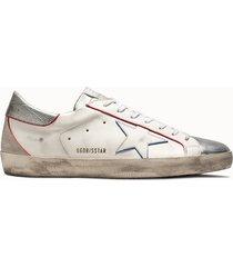 golden goose deluxe brand sneakers superstar colore bianco argento