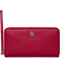 billetera roja tommy hilfiger core large