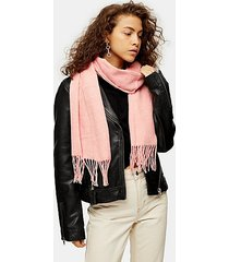 considered pink super soft scarf with recycled polyester - pink