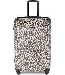 katie 28-inch leopard-print suitcase