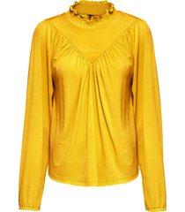 maglia a maniche lunghe (giallo) - bodyflirt