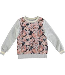 name it grijze sweater materiaalmix polyester voorzijde