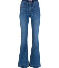 jeans elasticizzati comfort  a zampa slim (blu) - john baner jeanswear