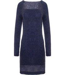 sukienka z przezroczystą górą ciemnoniebieska