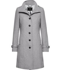 coat wool wollen jas lange jas grijs taifun
