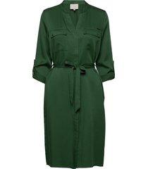 emissa shirt dress jurk knielengte groen minus