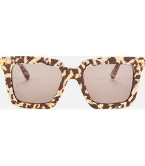 bottega veneta women's oversized acetate sunglasses - brown