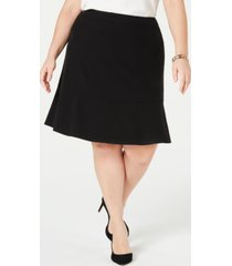 bar iii trendy plus size ruffle-hem skirt, created for macy's