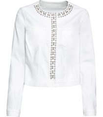 giacca di jeans con pietre (bianco) - bodyflirt