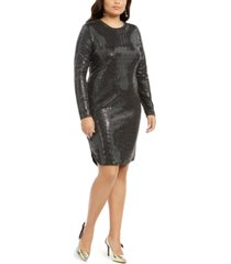 b darlin trendy plus size sequined bodycon dress
