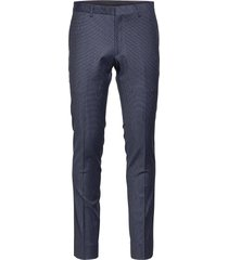 bs matera slim kostymbyxor formella byxor blå bruun & stengade