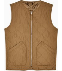 mens yellow selected homme dark stone quilted vest