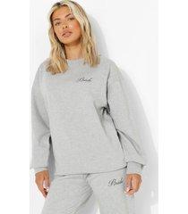 bride sweater, grey marl